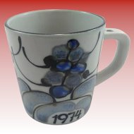 Royal Copenhagen Large Annual Mug 1974