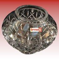 Irena Hand Cut Crystal Rose Bowl