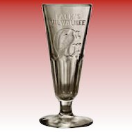 Falk's Milwaukee 1889 Pilsener Glass