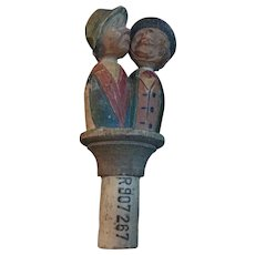 Anri Kissing Couple Bottle Stopper.