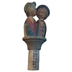 Anri Kissing Couple Bottle Stopper.
