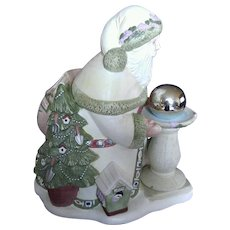 Pfaltzgraff Naturewood Santa Cookie Jar