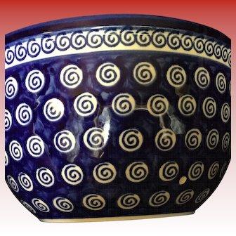 Medium  Boleslawiec Polish Mixing Bowl