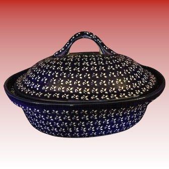 Polish Pottery Oval Casserole Dish From Zaklady