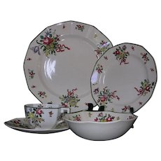 Royal Doulton Old Leeds Sprays 5 Piece Place Setting