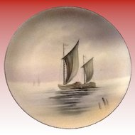 Nippon Hand Painted Plate Boats