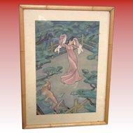 Lithograph  Dancer  by Cyrus Baldridge 1889-1975