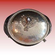Rodney Kent Hammered Aluminum Tulip Dish