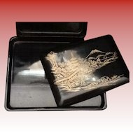 Traditional Japanese Lacquer Stationary Box