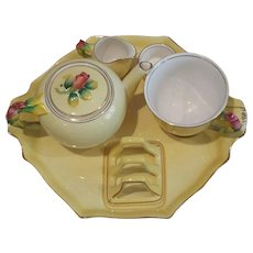 Vintage chintz breakfast tea set. Royal Winton. Made in England