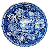 R Hall's Pains Hill Surrey Historical Blue Transfer Ware Plate