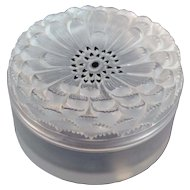 Lalique Dahlia Powder or Trinket Box French Art Glass