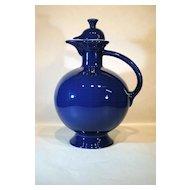 Vintage Cobalt Blue Fiesta Water Carafe Pitcher