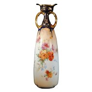 Doulton Burslem 11 inch tall Floral Decorated Vase