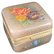 Dusty Rose Lavender Color Hinged Jewelry Casket or Trinket Box