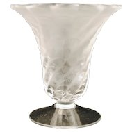 Lalique Frosted Glass and Scalloped Shell Form Vase