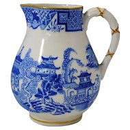 Royal Worcester Light Blue Willow Creamer 1879 Date Mark