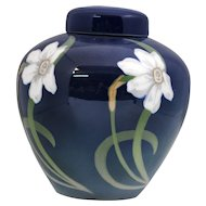 Royal Copenhagen Ginger Jar Vase with Art Nouveau Jonquil Decoration