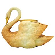 Royal Worcester Blush Ivory Swan Shape Figural  Vase