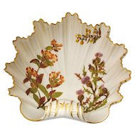 Royal Worcester Scalloped Leaf Shape Bowl