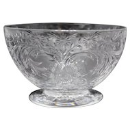 Set of 12 Pairpoint Engraved Glass Dessert or Finger Bowls