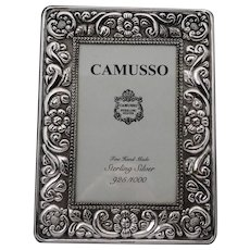Camusso Sterling Silver Easel Back Photo Picture Frame