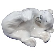 Royal Copenhagen Figurine Playful Polar Bear Cub