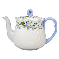 Shelley Harebell 3.5 Cup Teapot with Blue Flowers