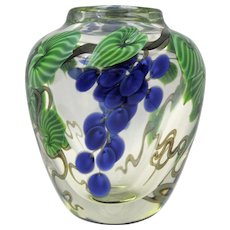 Orient & Flume Art Glass Paperweight Vase by by Bruce Sillars 1985