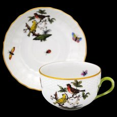 Herend Rothschild Bird Cup & Saucer Set #1