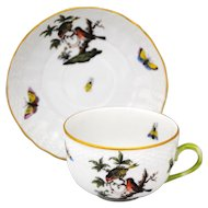 Herend Rothschild Bird Cup & Saucer Set #2