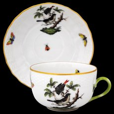 Herend Rothschild Bird Cup & Saucer Set #3