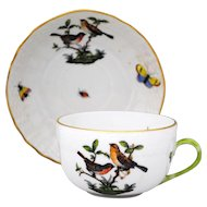Herend Rothschild Bird Cup & Saucer Set #4