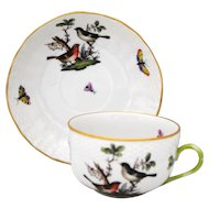 Herend Rothschild Bird Cup & Saucer Set #5