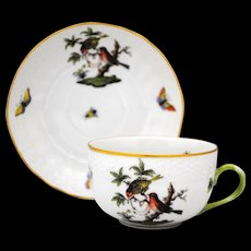 Herend Rothschild Bird Cup & Saucer Set #6
