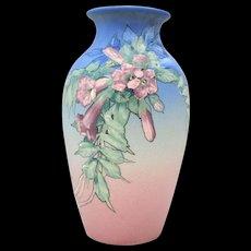 Large Weller Hudson American Art Pottery Vase Signed Pillsbury