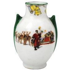 Royal Doulton Santa Clause Father Christmas Series Ware Miniature Vase