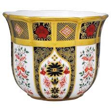 Royal Crown Derby Old Imari 1128 Cache Pot
