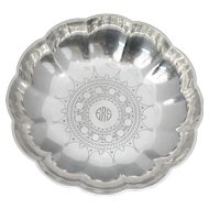 Tiffany & Co. Art Deco Sterling Silver Candy Nut or Trinket Bowl