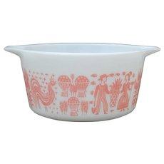Pyrex Pink Amish Butterprint 1 Quart Casserole Dish # 473