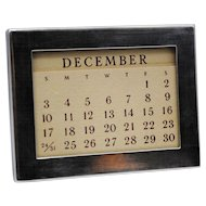 Tiffany & Co. Sterling Silver Perpetual Desk Calendar