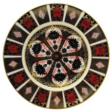 First Quality Royal Crown Derby Old Imari 1128 10.5 inch Dinner Plate 8 available