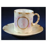 Rosenthal Greek or Roman Medallion Cameo Ware Demitasse Cup & Saucer