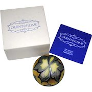 Orient & Flume Cross and Pulled Feather Art Glass Paperweight 1976 w/ Box