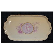 Rosenthal Greek or Roman Medallion Cameo Ware Dresser Tray or Trinket Dish
