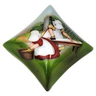 Royal Bayreuth Sunbonnet Babies Square Trinket Box