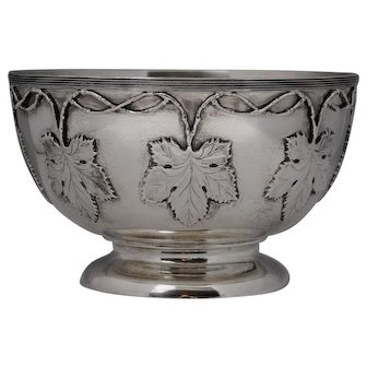 English Sterling Silver Punch or Center Bowl by Goldsmiths & Silversmiths Co. LTD