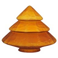 Art Deco Amber Cone Shape Art Glass Shade
