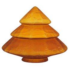 Art Deco Amber Cone Shape Art Glass Shade