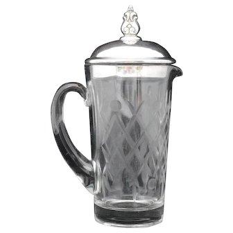 International Royal Danish Sterling Silver & Glass Cocktail Mixer